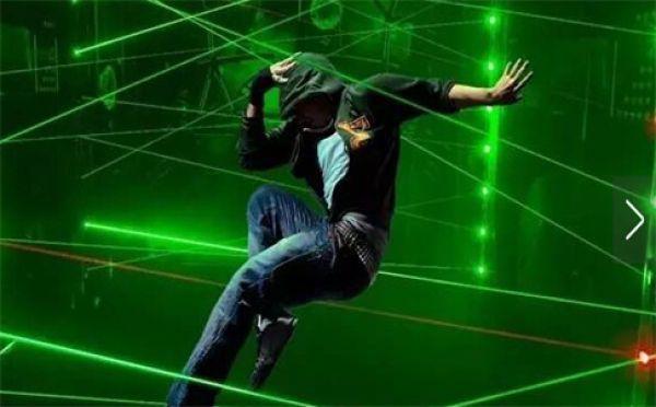 green blue red laser game magic penetralium escape props Real green laser array chamber secret funny laser safe maze game