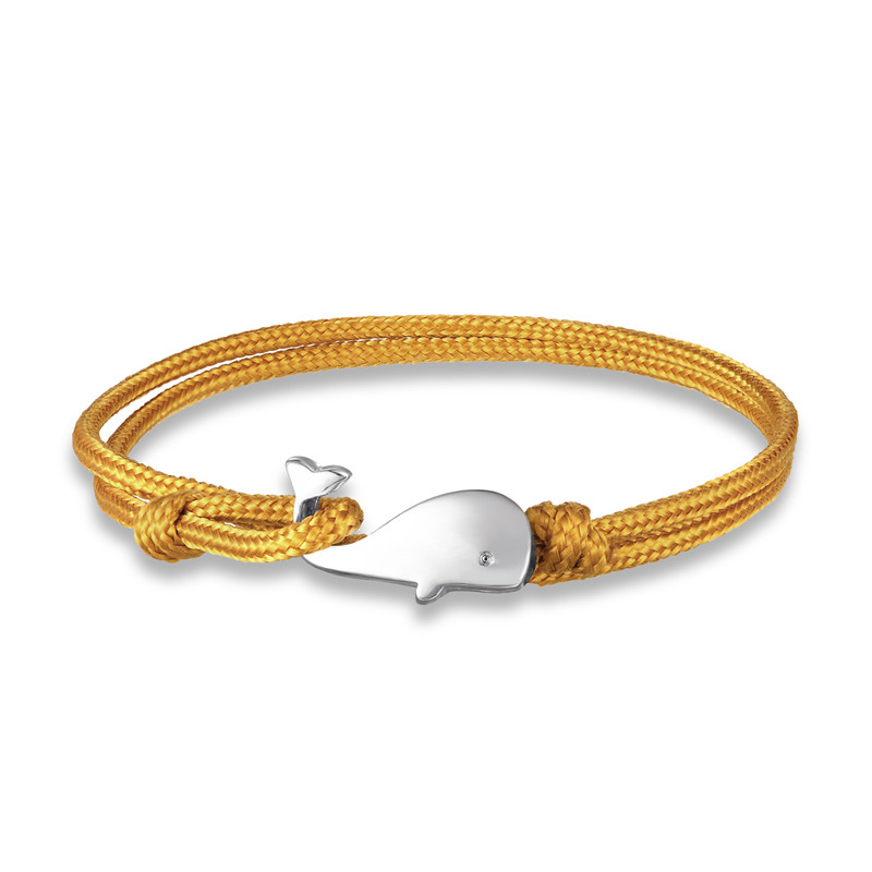 MKENDN New Beach Vacation Tiny Whale Tail Bracelet Couple Men Women 550 Paracord Jewelry Wrap Metal Hooks Summer style