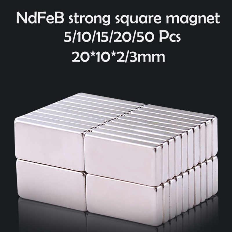 5/10/15/20/50 個 20 × 10 × 2/3 ミリメートルネオジム磁石 20 ミリメートル × 10mmx2 N35 ネオジムブロック超強力な強力な永久磁気 imanes ディスク