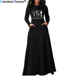 Vestido longo elegante com bolso, vestido de barbeiro para mulheres, quente, com manga longa, vintage, robe, pescoço, cabeleireiro, arma, tesoura, vintage