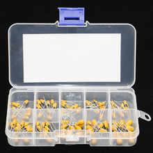 100 Uds valor 10 16V condensador de tantalio Kit surtido caja Assorstment