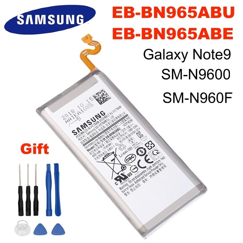 SAMSUNG Orginal EB BN965ABU EB BN965ABE 4000mAh Bateria Para Samsung Galaxy Nota 9 Note9 SM N9600 N960F N960U N960N N960W + Ferramentas Baterias p/ telefone celular    -
