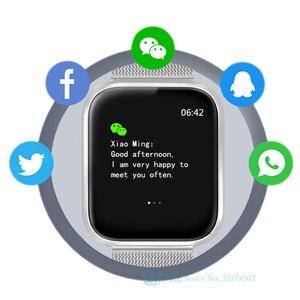 Image 4 - Mode Stahl Smart Uhr Männer Frauen Bluetooth Smartwatch Damen Fitness Armband Herz Rate Android IOS Telefon Herren Smart uhr