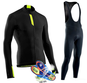 Image 3 - Northwave 2020Spring/Autumn Cycling Clothing Ropa Ciclismo Nw Mens Jersey Suit Outdoor Riding Bike MTB Clothing Bib Pants Set