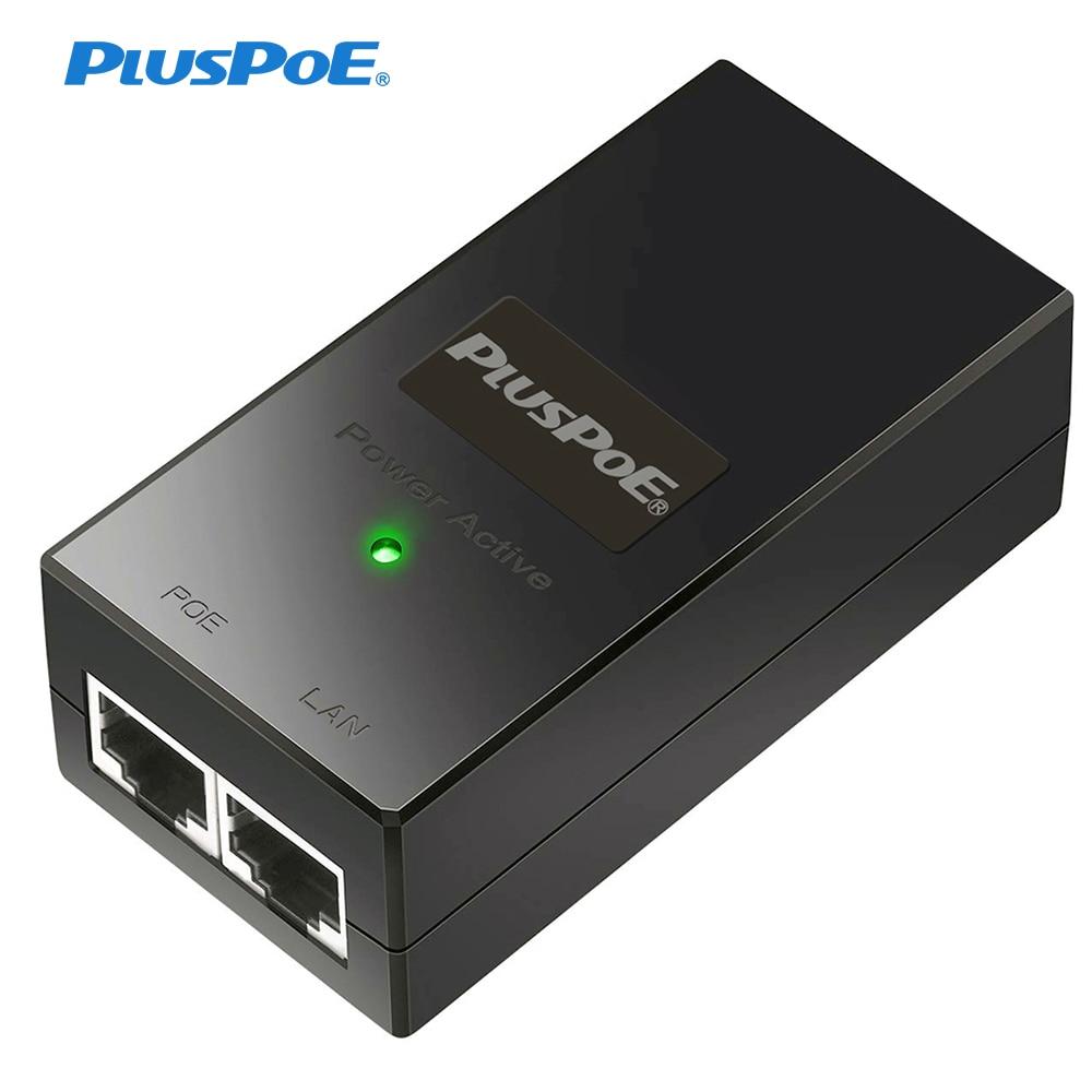 PoE-адаптер 48 В, 24 В, 24 Вт, 48 Вт, 100 Мбит/с, 802.3af