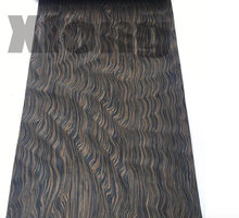 L:2.5Meters/pcs Wide:55cm Thickness:0.2mm Technology Ebony Root Bark Wood Veneer (back Side Withnonwoven Fabric)