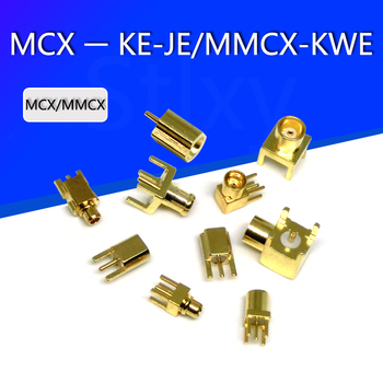 MCX-KE/MMCX-JE female straigh Jack RF Coaxial Connector Adapter for PCB mount / Edge PCB Mount RP-MCX/MMCX image