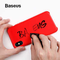 Étui pour iphone en Silicone liquide de luxe Baseus Xs étui pour iphone en Silicone de couleur bonbon lisse