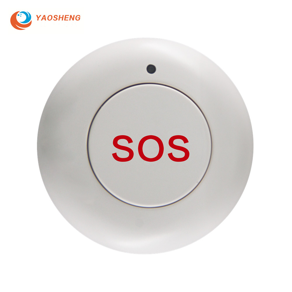Home Security Alarm System Smart Wireless SOS Emergency Panic Button for Solar Powered Outdoor Siren