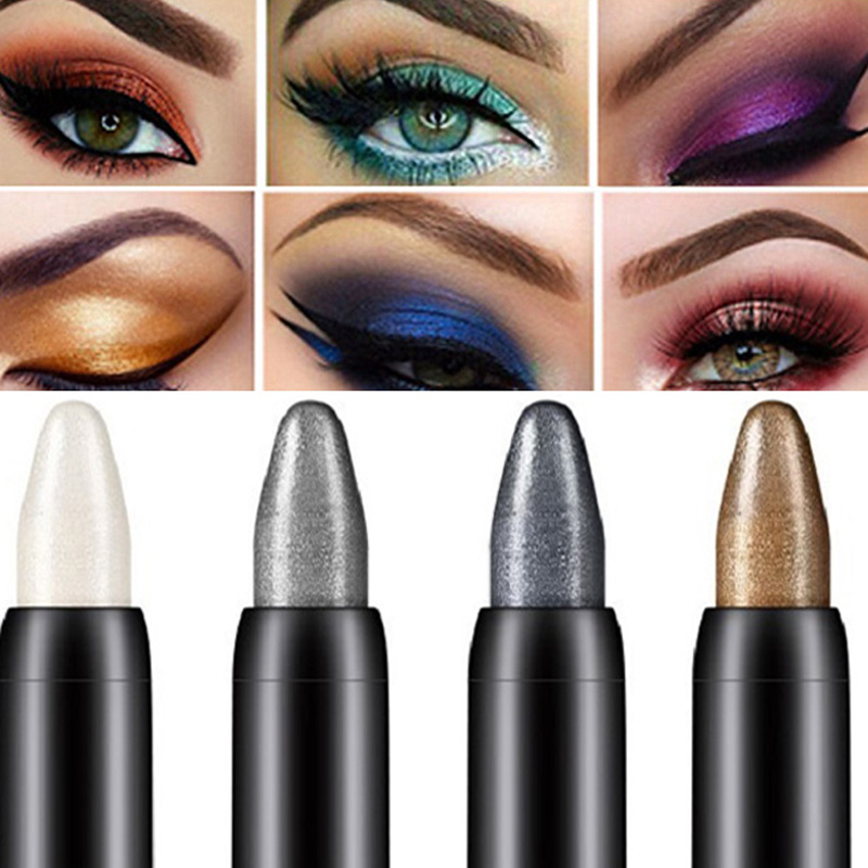 15 Color Professional Women Makeup Eye Shadow <font><b>Pen</b></font> Beauty Highlighter <font><b>Eyeshadow</b></font> Pencil 116mm Wholesale Eye Pencil maquillage image