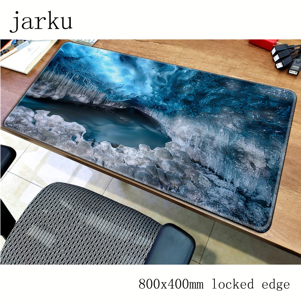 Caves Mouse Pad Gamer 800x400x3mm Notbook Mouse Mat Natural Rubber Gaming Mousepad Large Personality Pad Mouse Desk Padmouse