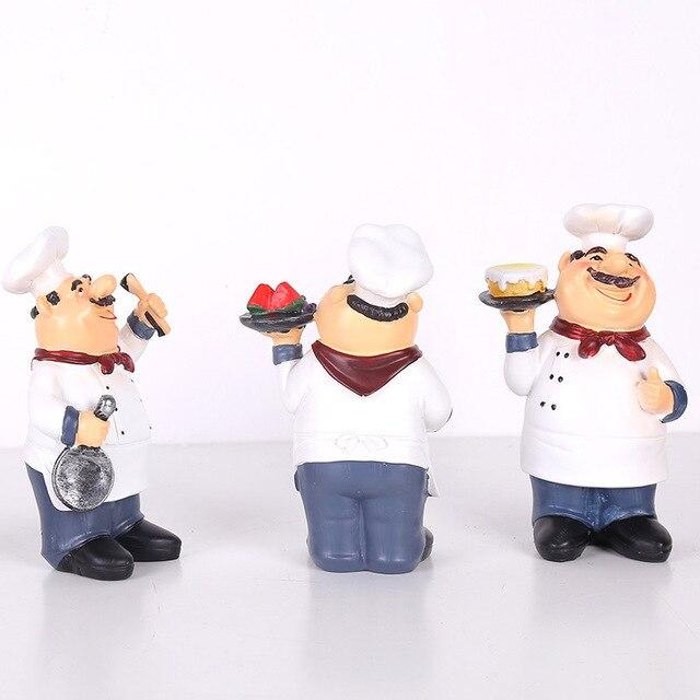 Фото статуэтка шеф повара кухонная скульптура для настольной фигурки