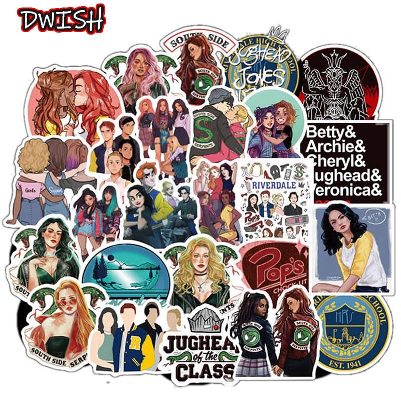 10/30/50pcs Waterproof Riverdale Children Stickers Skateboard Guitar Suitcase Hydroflask Graffiti Sticker Kids Girl Classic Toy