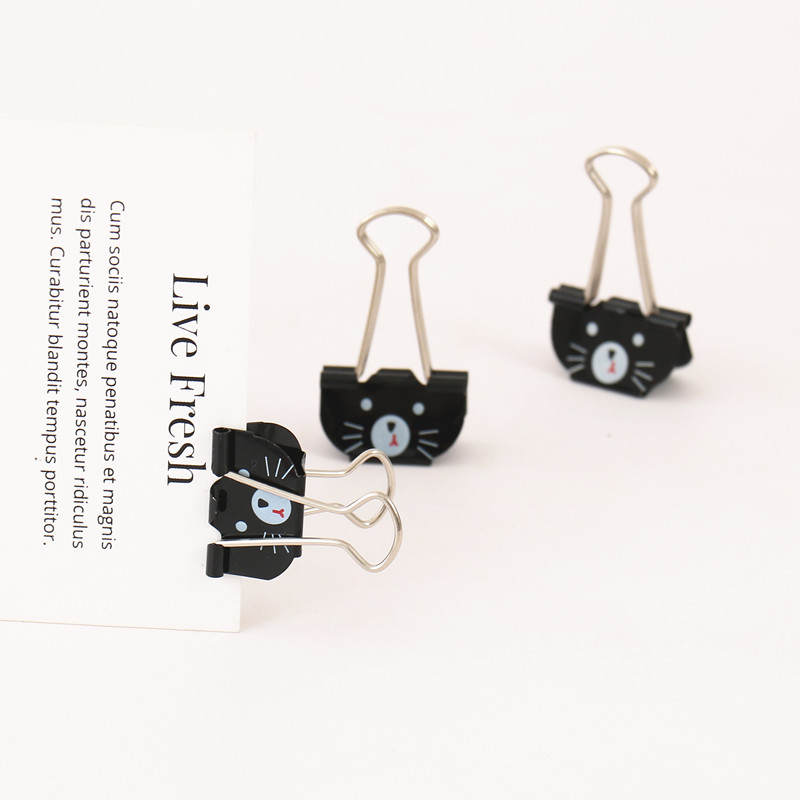 TUTU 6PCS Cat Binder Clips For Home Office Books File Paper Organizer Clip Food Bag Clips Note Clips 25mm School Gift H0363