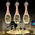 Современный минималистичный персональный светодиодный Кристалл, люстры, столовая, барная люстра, модная, с одной головкой, три пузырька