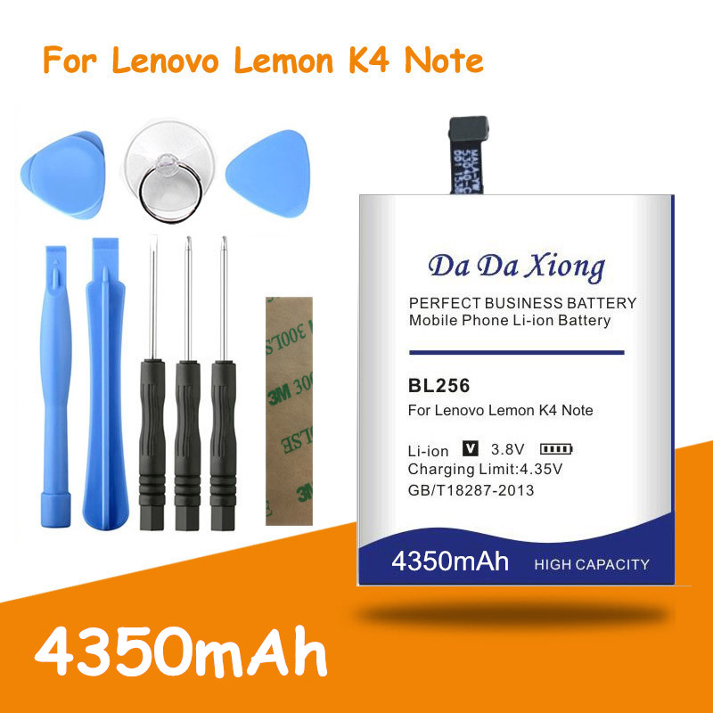 Free shipping 4350mAh BL256 <font><b>battery</b></font> for <font><b>Lenovo</b></font> Lemon <font><b>K4</b></font> <font><b>Note</b></font> K4note / X3 Lite K51c78 / A7010 Replacement batteria + free tools image