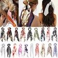 Bohemian Floral Spot Lange Haarband Haar Band Elastische Haar Bands Haar Zubehör Pferdeschwanz Haar Schal Für Frauen
