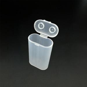 Image 4 - 2600mAh נייד נשיאת תיבת 18650 סוללה מקרה אחסון תיבת אקריליק ברור שקוף פלסטיק בטיחות תיבת עבור 2pcs 18650 סוללה