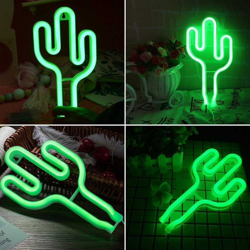 Cactus Neon Lights Decor Lamp Led Neon Lamps Led Lights Wall Decoration Girls Bedroom Living Room Christmas Party As Kids Gift Neon Bulbs Tubes Aliexpress