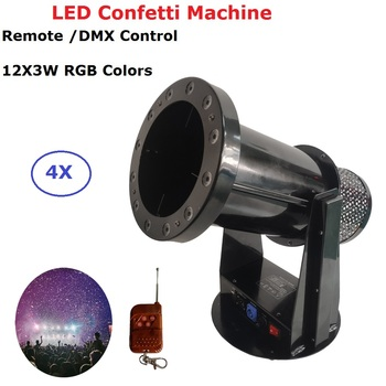1200W DMX Confetti Blower Stage Effect Cannon LED 12X3W RGB Confetti Machine For Disco Party Wedding Show Christmas Decorations 2 pcs lot stage special effect magic fx co2 gas confetti machine swril co2 jets confetti streamer for super party celebration