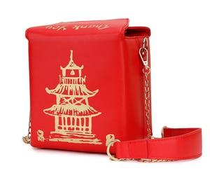 Image 4 - ENJOININ Chinese Takeout Box Purse Pu Leather Women Handbag Novelty Fashion Crossbody Bag Shoulder Chain Bag for Girl handbag