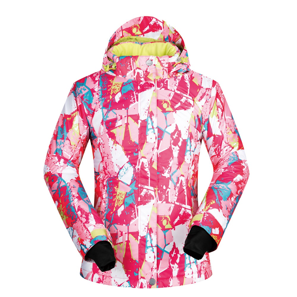 MUTUSNOW Women Ski Jacket Winter Waterproof Windproof Snowboarding Female Winter Sportswear