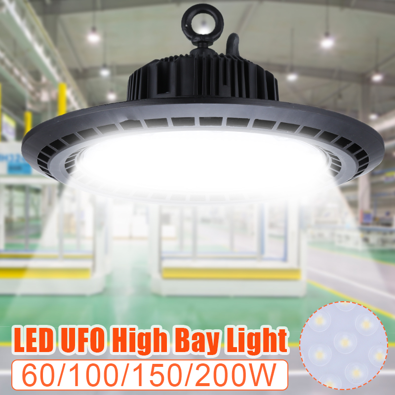 60/100/150/200W Professional LED High Bay Light Fixture 85-265V Daylight Industrial Commercial Lighting For Warehouse Workshop