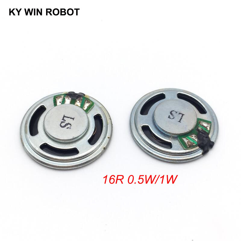 2pcs/lot New Ultra-thin Mini Speaker 16 Ohms 0.5 Watt 1 Watt 0.5W 1W 16R Speaker Diameter 23MM 2.3CM Thickness 5MM