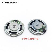 Mini alto falante ultrafino, 2 pçs/lote novo, 16 ohms, 0.5 w, 1 w, 0.5 w, 1 w, 16r diâmetro 23mm 2.3cm espessura 5mm