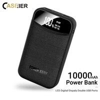Caseier banco de potência para iphone xiaomi mini pover banco 10000 mah display led powerbank bateria externa poverbank carregamento rápido
