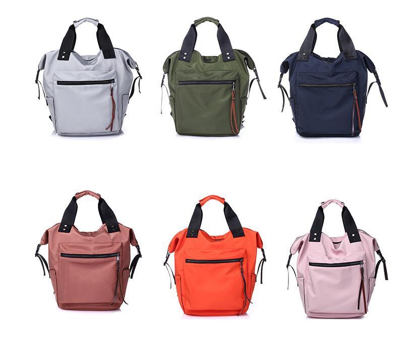 Hb438d5f4093a405ebf27b9685ca8135cy Casual Nylon Waterproof Backpack Women High Capacity Travel Book Bags for Teenage Girls Students Pink Satchel Mochila Bolsa 2019