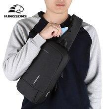 Kingsons marca masculina crossbody sacos de ombro alta qualidade tote moda homem negócios mensageiro saco grande tamanho split sacos poliéster