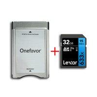 Ursprüngliche Lexar 633x32 GB U1 SDHC SDXC Speicher 95 MB/s SD karte mit adapter PCMCIA kartenleser für mercedes Benz MP3 speicher Karte