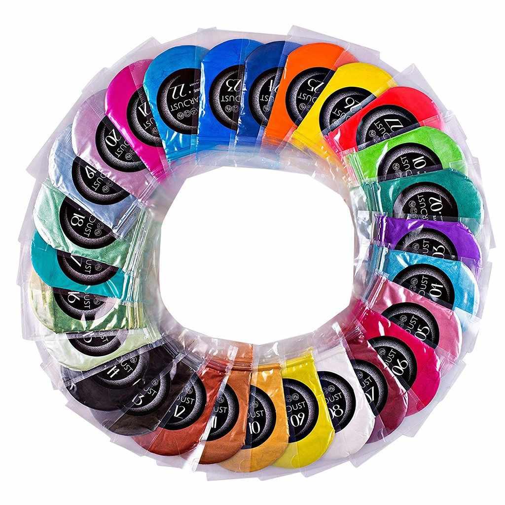 Resina Epoxide metálica 27 Uds x5g jabón Color Set pigmento multicolor mica polvo, para teñir resinas epoxi y jabones 115