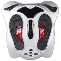 Electric Low Frequency Pulse Foot Massager Infrared Heat Electromagnetic Points Foot Massage Machine Physiotherapy EMS Health