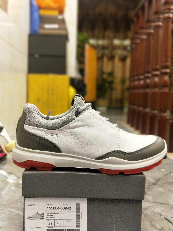 2020 ECCO Men Casual Shoes Golf Shoes Men Elastic Band Walking Men Leather Shoes 155804