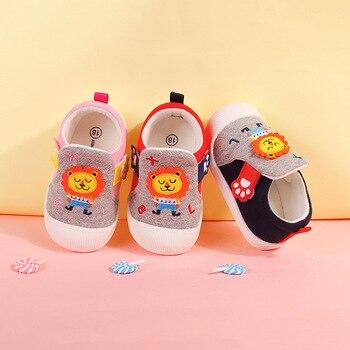 Xiao Liu Trésor 2019 Automne Nouveau Style Dessin Animé Nourrissons étape Chaussure Bébé Fond Souple Voiture Suture Velcro Chaussures