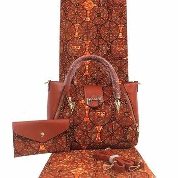 high quality african bag set matching wax fabric 100% cotton material anakra dashiki veriatble 3pc set