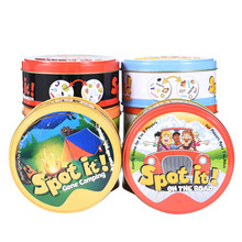 Dobble Spot It Card Game Toy Iron Box 55 Cards Hermione Sport Go Camping Hip Kids Board Game Gift