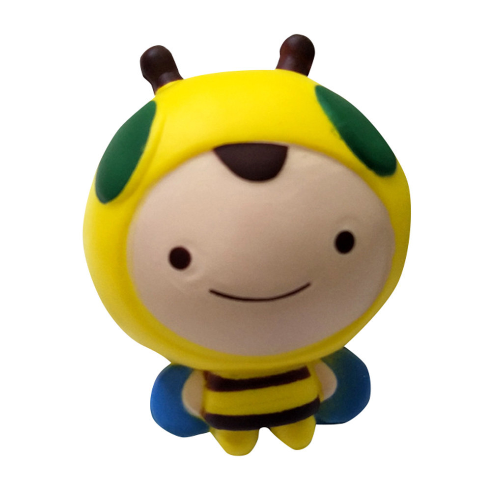 Jumbo Adorable Bee Slow Rising Squeeze Stress Reliever Toys Gift Simulation Cartoon Antistress Gadgets Anti Stress #A