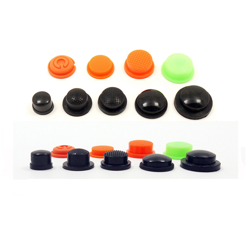 20pcs Tail Waterproof Switch Button Rubber Button Led Charge Glare Flashlight Switch Accessories Seal Rubber Cap
