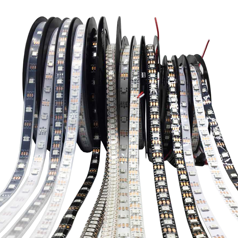 WS2812B WS2812 RGB Led אור רצועות עמיד למים למיעון בנפרד חכם RGB Led אור עבור עיצוב הבית Christmas0.5m-5 m