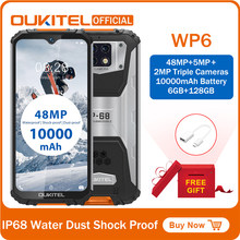OUKITEL WP6 Ip68 Robuste Wasserdichte Smartphone MT6771T Octa Core 9V/2A 10000mAh Batterie 48MP Triple Kamera 6GB 128GB Handy(China)