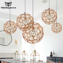 Modern Luxury Pendant Lights Retro Iron Kitchen Hanging Stair Cafe Lamp Lustre Art Decoration Hanglamp Luminaria
