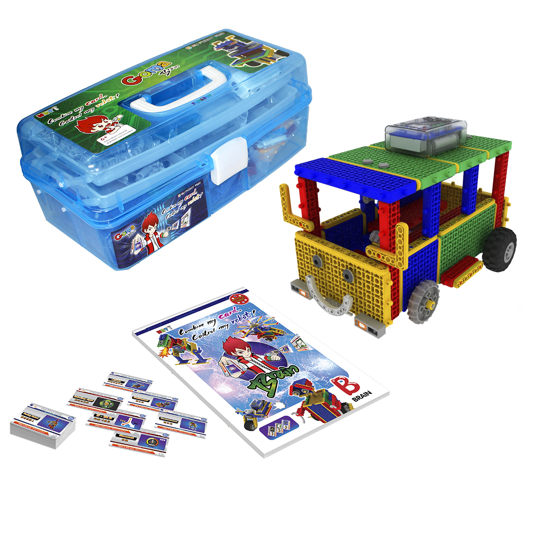 MRT 1-Brain B Colorful Robots Bulding Block Kit Assembly Educational Robot Toy For Beginner 6-8  ( Learn With Goma-Brain A)