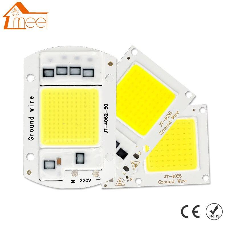 10 ワット 20 ワット 30 ワット 50 ワット COB LED ランプチップ 220V 240V LED COB 電球ランプ IP65 スマート IC ドライバコールド/ウォームホワイト Led スポットライト投光照明