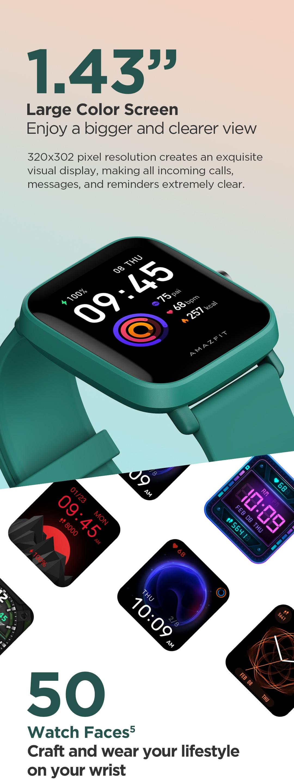 Amazfit Bip U Smartwatch 6