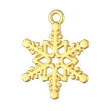 Модные рождественские изысканные подвески в форме снежинки из