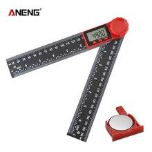 Угломер квадратная линейка цифровой угломер контурный угломер электронный транспортир измерительный Столярный инструмент Finder инклинометр