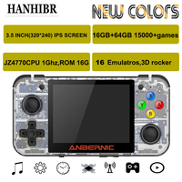 NEW ANBERNIC RG350 IPS Retro Games 350M Video games Upgrade game console ps1 game 64bit opendingux 3.5 inch 15000+ games rg350M